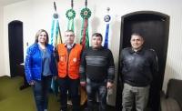 MUNICÍPIO RECEBE VISITA TÉCNICA DO COORDENADOR REGIONAL DA DEFESA CIVIL E  COMANDANTE  DA BRIGADA MILITAR