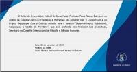 Convite para Palestra com Reitor da UFSM