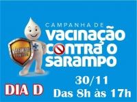 DIA D  VACINAÇÃO CONTRA SARAMPO  PARA JOVENS DE 20 A 29 ANOS