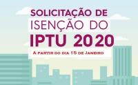 SOLICITAÇÃO DE ISENÇÃO DE IPTU 2020