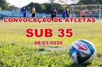 LISTA ATUALIZADA DE ATLETAS CONVOCADOS SUB 35