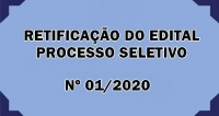 Edital N02.2020 - Retificação do Período de  Inscrição do Edital Simplificado Nº01/2020