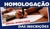 EDITAL DE HOMOLOGAÇÃO DAS INSCRIÇÕES - ESF/PSF