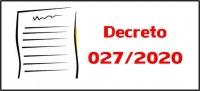 Decreto 027/2020 - Dispõe sobre as alterações na entrega de Títulos para o PSS 01 Enfermeiro
