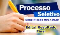 Edital Nº 006 - 2020 - Resultado final - PSS 001/2020