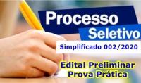 Edital Nº 004 - Resultado Preliminar Prova Prática - PSS 002/2020