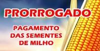 PAGAMENTO DAS SEMENTES DE MILHO PRORROGADO