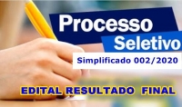 Edital Nº 005 - Resultado Final  - PSS 002/2020