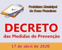 DECRETO Nº 40, das Medidas de Prevenção - COVID-19