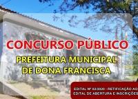 CONCURSO PÚBLICO Nº 01/2020 – EDITAL Nº 02/2020 – RETIFICAÇÃO DO EDITAL DE ABERTURA E INSCRIÇÕES
