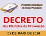 """DECRETO 047 """"Reedita o Decreto nº 040-2020, de 17 de abril de 2020, e o Decreto 043-2020, de 22 de abril de 2020"""