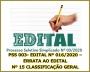 PSS 003- EDITAL Nº 016/2020 – ERRATA AO EDITAL Nº 15 CLASSIFICAÇÃO GERAL
