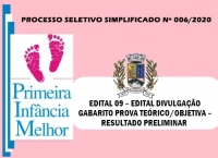PSS006 - EDITAL 09 – EDITAL DIVULGAÇÃO GABARITO PROVA TEÓRICO/OBJETIVA – RESULTADO PRELIMINAR