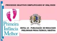 PSS006- EDITAL 10 -   RESULTADO PRELIMINAR DA PROVA TEÓRICA (OBJETIVA)