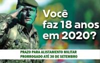 ALISTAMENTO MILITAR É PRORROGADO ATÉ 30 DE SETEMBRO