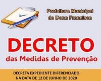 DECRETO 061, DECRETA EXPEDIENTE DIFERENCIADO NA DATA DE 12 DE JUNHO DE 2020