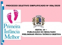 PSS006 – EDITAL 20 – PUBLICAÇÃO DO RESULTADO PRELIMINAR PROVA TEÓRICO/OBJETIVA