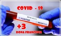 CONFIRMADOS MAIS TRÊS CASOS DE CORONAVÍRUS EM DONA FRANCISCA