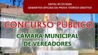EDITAL Nº 07/2020 – GABARITOS OFICIAIS DA PROVA TEÓRICO-OBJETIVA