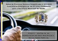 PSS 011 - Edital 04 - Homologação das inscrições - Resultado preliminar