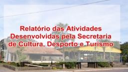 RELATÓRIO DAS ATIVIDADES DESENVOLVIDAS PELA SECRETARIA DE CULTURA- AGOSTO 2020