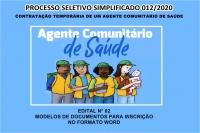 PSS 012-EDITAL N° 02 – MODELOS DE DOCUMENTOS PARA INSCRIÇÃO NO FORMATO WORD