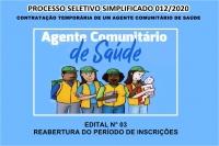 PSS 12- EDITAL N° 03 – REABERTURA DO PERÍODO DE INSCRIÇÕES