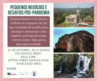 "CONVITE PARA A LIVE ""PEQUENOS  NEGÓCIOS E DESAFIOS PÓS-PANDEMIA"