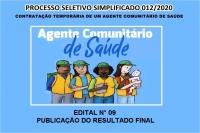EDITAL N° 09 – PUBLICAÇÃO DO RESULTADO FINAL