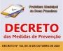 DECRETO Nº 136, DE 26 DE OUTUBRO DE 2020