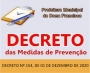 DECRETO Nº 154, DE 01 DE DEZEMBRO DE 2020