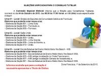 Urnas e Locais de Votação para Conselheiros Tutelares